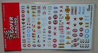SPONSOR SHEET  1:24 1:25 GOFER RACING DECALS CAR MODEL ACCESSORY 11006