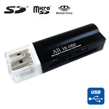 USB 2.0 All in One Memory Card Reader For : MICRO-SD SD TF SDHC M2 MMC