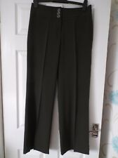 Ladies BNWOT Debenhams Black Tailored trousers Size 12 Flared