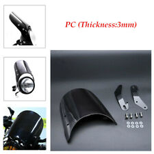 """1×Motorcycle Windshield Windscreen Kit for 5""""&7""""Round Headlights frame holder"""