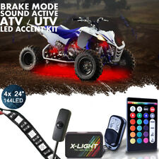 4Pcs Under Glow LED Accent Light Strips Kit for Spyder Can AM Snowmobile ATV UTV