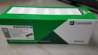 LEXMARK 82K0HCG Cyan High Yield Toner Cartridge Damaged Open Box OEM
