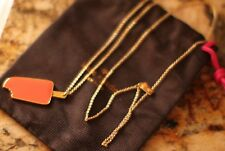 "Kate Spade NY enamel popsicle pendant orange gold long 32"" Necklace creamsicle"