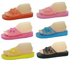 Mesh Sequin Mid-Platform Chinese Open Toe Comfort Slippers Sizes 6 7 8 9 10 11