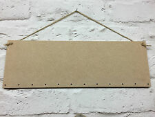 30CM x 10CM BLANK WOODEN MEDITE  MDF CRAFT PLAQUE SHAPE SIGN BIRTHDAY BOARDS