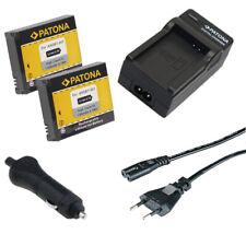2x Batteria Patona + caricabatteria casa/auto per GoPro HD HERO NAKED