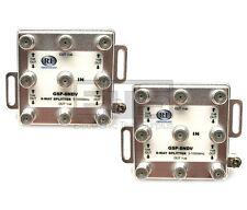 Lot Of 2 RF Communication Group GSP-8NDV 8-Way RF F Type Cable Splitter