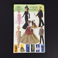 Vogue Craft 9894 Sewing Pattern Vintage Fashion Doll Clothes New Uncut