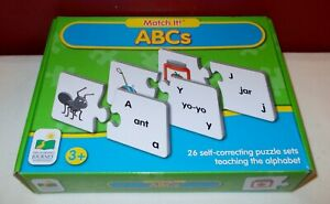 MATCH IT ABCs The Learning Journey Complete Alphabet PUZZLE Teaching +