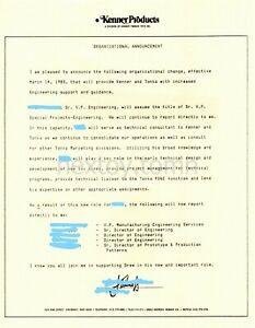 KENNER Original LETTERHEAD Org Memo ENGINEERING 1988 Cincinnati Employee