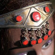 Goldplated Turkoman Tribal CROWN Handmade Headpiece BellyDance Pink Coral 619w2