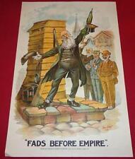 1900 RARE Boer War BRITISH POLITICAL CARTOON Poster PUNCH MAGAZINE STYLE Africa