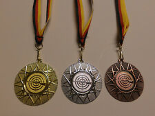 Schützen Schießen Pokal Medaillen 70mm 3er Set Deutschland-Band Turnier Emblem Pokale & Preise