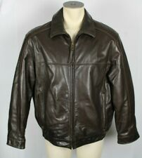 Marc New York FIRST CLASS Brown Soft Leather Jacket Coat Bomber Sz Large