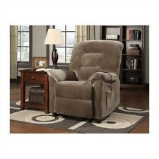 Power Lift Recliner Chair Lazy Boy Brown Relaxing Coaster Living Room Furniture