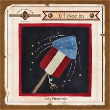 LIL WOOLIES BLOCK OF THE MONTH JULY FIREWORKS, From The Wooden Bear Designs NEW