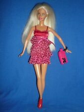 Blonde Barbie & Pink Party Dress & Bag ~ Hair Can Be Worn in Bunches ~ Bend Legs