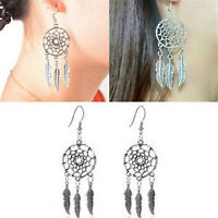 Delicate Jewelry Retro Silver Plated Dream Catcher Drop Dangle Earring Gift -