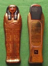 Vintage Egyptian Sarcophagus Tin Box British Museum Souvenir for Archaeologist C