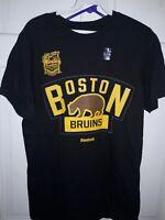Boston Bruins 2016 Winter Classic Hockey Reebok T-Shirt bear logo NHL B's NEW S