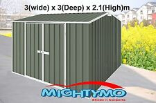 Garden Shed 3x3 Storage Shed,Tool Sheds, Gable Roof Mist Green