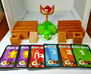 Angry Birds Game 18 Replacement Parts/Piece/Figures, w/Launcher-Full Deck Cards