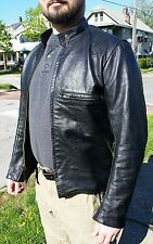 Joseph Buegeleisen Co. Buco J-100 black leather cafe racer motorcycle jacket