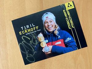 Biathlon Autogramm Tiril Eckhoff