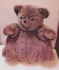 "VTG Plush Pot Belly Teddy Bear Fat Cuddly Cute Brown 17"" Velvet Paws"