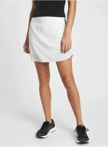 """Athleta NWT Women's Run With It 16"""" Skort Size Small Color White"""
