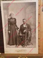 1800's Cabinet Card Photo Brenham Texas FC Winkelmann Marriage Black Dress Wife