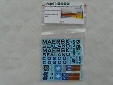 MojeTT Spur TT 1x Set Decals für Container Beschriftung Cosco Maersk MSC P&O ...
