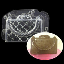 3D Lady's Bag Shaped Chocolate Mold Plastic Polycarbonate Chocolate Cake Mould