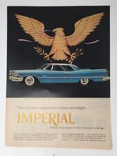 Original Print Ad 1957 IMPERIAL Car Chrysler Blue Vintage Auto Wings