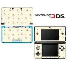 Vinyl Skin Decal Cover for Nintendo 3DS - Girl's Kitty Doll Pattern