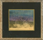 Framed 20th Century Mixed Media - Trees in a Landscape