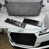 TT Front Grill Honeycomb Grille for Audi TT FV3 TTS 15+ TTRS Style Silver Frame