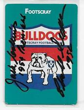 1988 SCANLENS FOOTSCRAY LOGO SIGNED BY CHARLIE SUTTON & JACK COLLINS