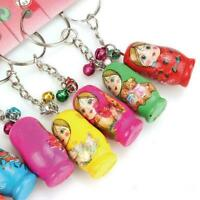 1pcs Charm Key Wood Matryoshka Russian Dolls Key Rings Keychains Decorative New