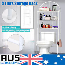 3 Shelf Over The Toilet Bathroom Space Saver Organizer Metal Towel Storage Rack