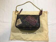 Authentic Louis Vuitton Monogram Mini Pochette Accessoires Pouch Clutch Bag