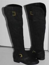 Ralph Lauren Jeannette Black Suede Over the Knee Riding Boots 5