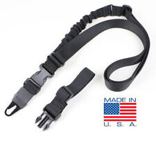 Condor Viper Tactical Single Point Bungee Rifle Sling + 2 Adaptors - BLK #US1021