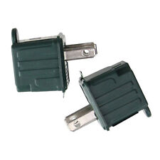 Set of 2 Stanley Green 3-Prong to 2-Prong Outlet Adapters 1.75
