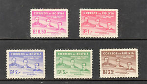 Bolivia Stamps 1952 Anniversary of the Revolution 5v set mint