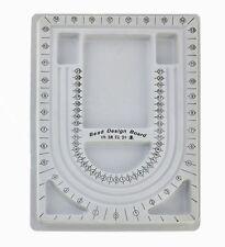 Grey Bead Pearl Design Board Necklace Pendant Measure Jewelry Tray Tool Organize