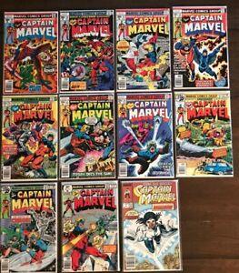 Lot of 11 Old CAPTAIN MARVEL Marvel Comics  nice books!  .99 Cents Bid 1976