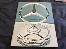 1960s Mercedes Benz 200D, 200, 230 USA Color Brochure Catalog Prospekt