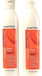 2 Ct Matrix Total Results Sleek 24HR Smooth Repair Conditioner 10.1Fl Oz 48M601J