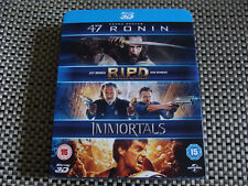 Blu - Box Set: 47 Ronin / R I P D / Immortals 3D : 3 Films Blu-Ray Discs Sealed